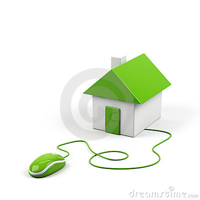 House connected to a computer mouse.