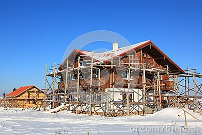 House constraction in winter