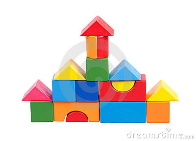 House constructed of blocks