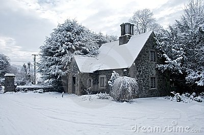 House covered in snow ireland