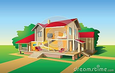 House cut view