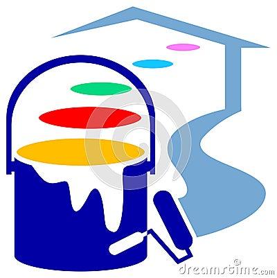 Free House Decorating Logo Royalty Free Stock Photo - 18472845