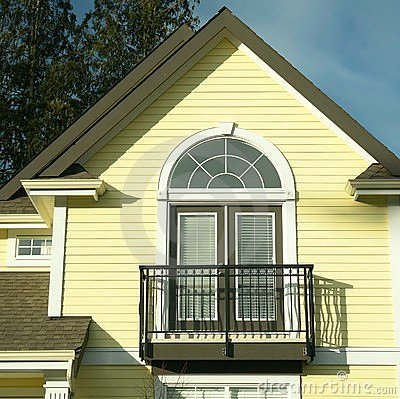 House Detail Yellow Siding Royalty Free Stock Photo