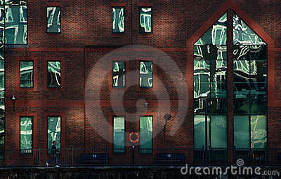 House in Docklands area of London Editorial Image