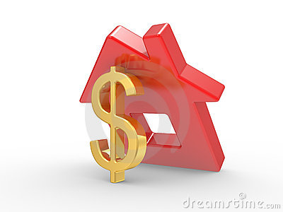 House and dollar symbol