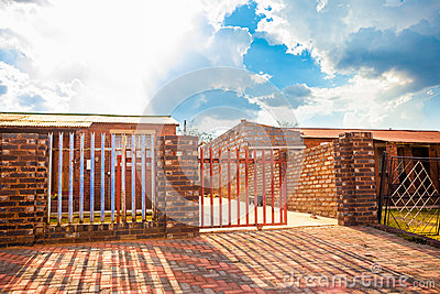 House with driveway gate, Soweto