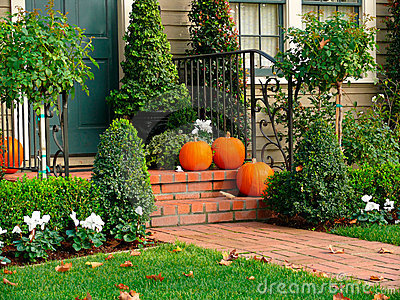 House entrance Hallowene deco