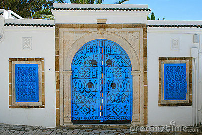 House entrance in tunisian arabic style