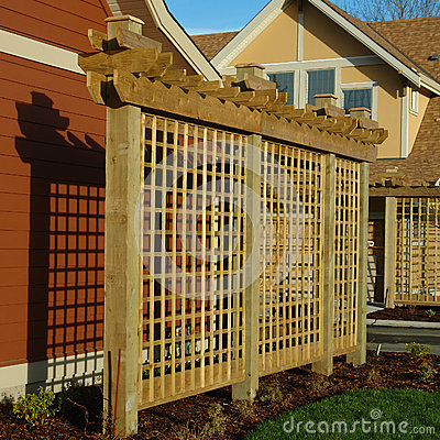 House Exterior Details Trellis Wood Royalty Free Stock