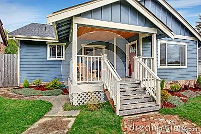 House exterior. View of entrance porch