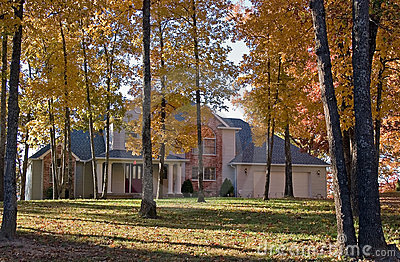 House in fall