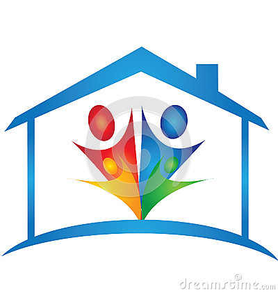 House and family logo