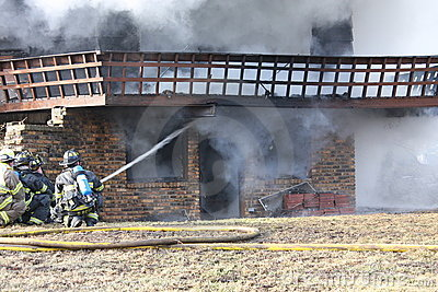 House Fire Editorial Stock Image
