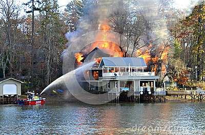 House Fire Editorial Photography