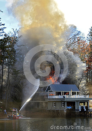 House Fire Editorial Photo