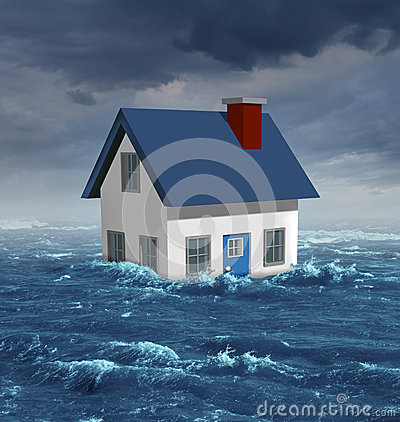 Free House Flood Royalty Free Stock Images - 32278779
