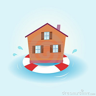 Free House Flood - Staying Afloat Royalty Free Stock Photography - 14597717