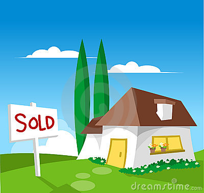 Free House For Sale - Sold Stock Image - 880461