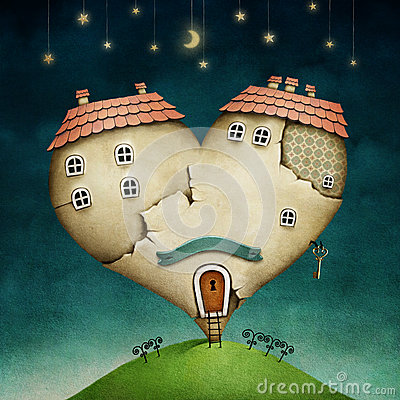 House in form of heart