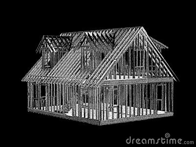 House frame right front