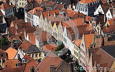 House Front In Bruges