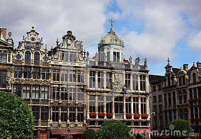 House Front at Grand Place in Brussels