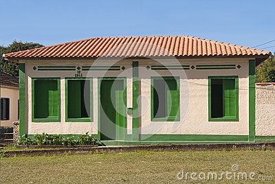 House with green decorations