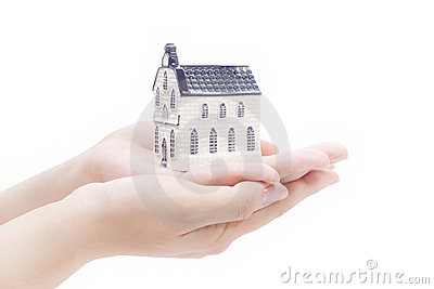 House in hands,real estate economy concepts