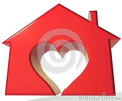 House Heart 3D logo Stock Photo