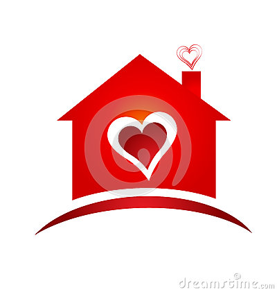 House of heart logo creative design logo Vector Illustration