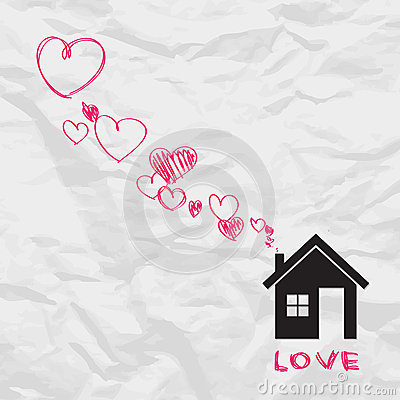 House and hearts.