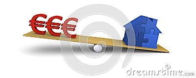 House heavier than euros