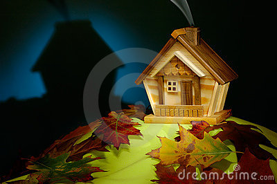 House on a Hill at Night