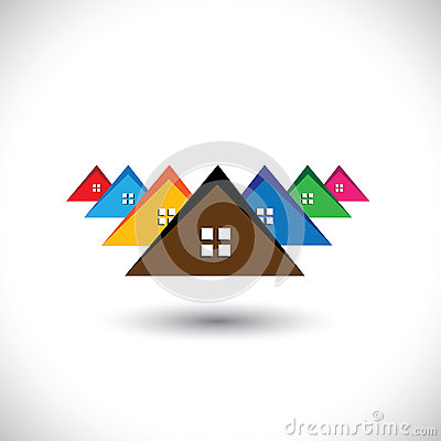 House (home), residential locality of a town or city