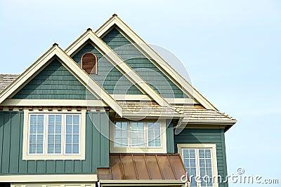 House Home Roof Gable Siding Stock Photos - Image: 5151003