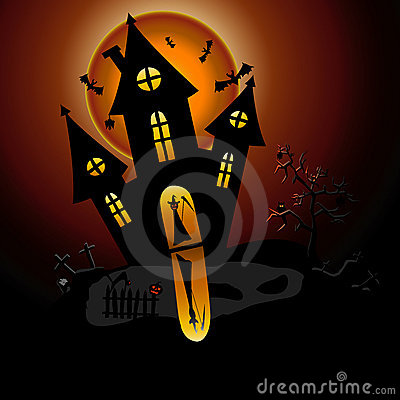 House of horror and ghosts