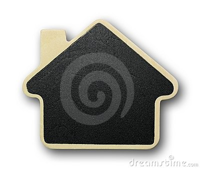 House icon made of wood