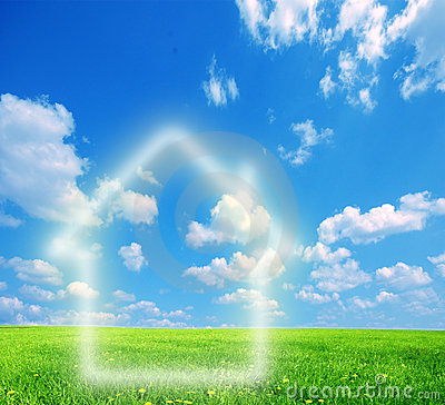 Free House Imagination On Green Land Royalty Free Stock Image - 12572566