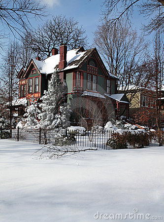 Free House In Winter Royalty Free Stock Photo - 18265205