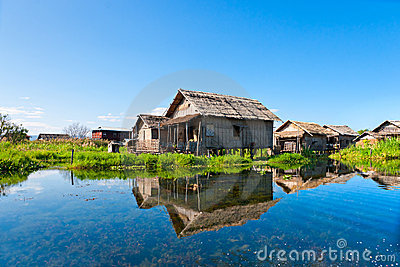 House In Inle Lake, Myanmar. Royalty Free Stock Photos - Image: 18275258
