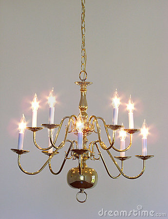 House Interior Brass Dining Room Light Chandelier