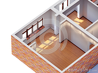 House interior planning Stock Photo