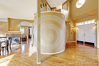 House Interior View Of Entrance Hallway And Living Room Stock Photo Image 42558575