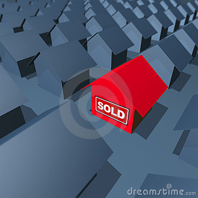 Free House Is Sold Royalty Free Stock Photography - 2744647