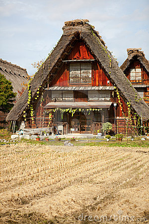 House in Japanese village Shirakawa-go