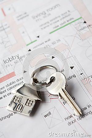 House key on plans