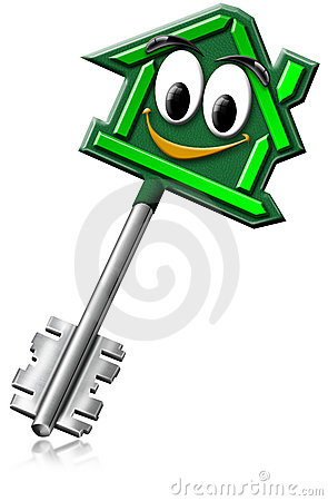 House keys with a smile