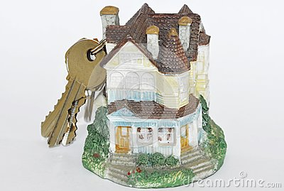 House with keys on the top