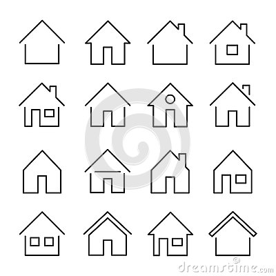 Free House Line Icon Stock Image - 108059751