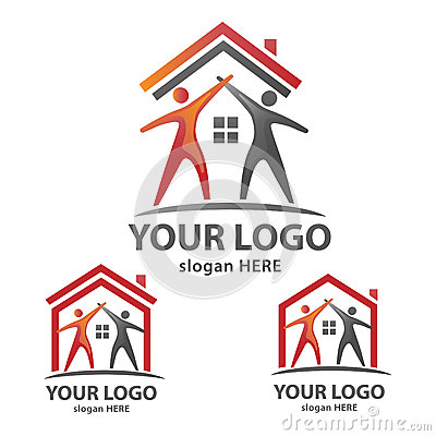 House logo stock vector image 56275541 for Minimalist house logo
